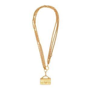 Authentic Chanel Vintage Triple Chain Bag Necklace